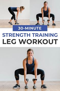 30-Minute Leg Workout At-Home with Dumbbells (Follow Along Video)