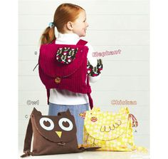 animal backpack pattern - I might NEED a chicken backpack someday. You never know!