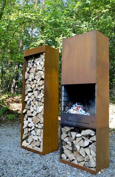 Corten steel barbecue from TOLE | Gardenista