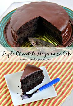 The secret ingredient that makes this cake so moist is Mayonnaise! Add 3 kinds of chocolate and it's chocolate indulgence at its highest. secret ingredient that makes this cake so moist is Mayonnaise! Add 3 kinds of chocolate and it's chocolate indulgence Cupcake Recipes, Baking Recipes, Cupcake Cakes, Dessert Recipes, Recipes Dinner, Pasta Recipes, Crockpot Recipes, Soup Recipes, Breakfast Recipes