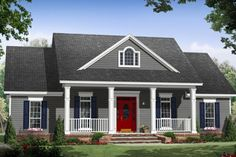 House Plan 21-338  Exterior colors and all!!  Yes, please!!
