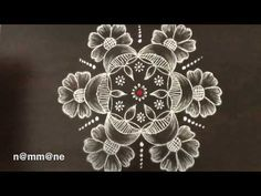 Daily rangoli || simple kolam || 7 dots kolam  || small dot rangoli || ಚುಕ್ಕಿ ರಂಗೋಲಿ - YouTube