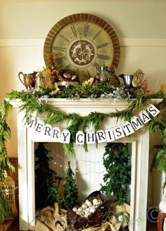 Strickland interiors post with some precious christmas ideas but I LOVE this mantel!