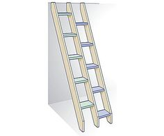 Alternating-tread ladder stairs - Fine Homebuilding Question & Answer