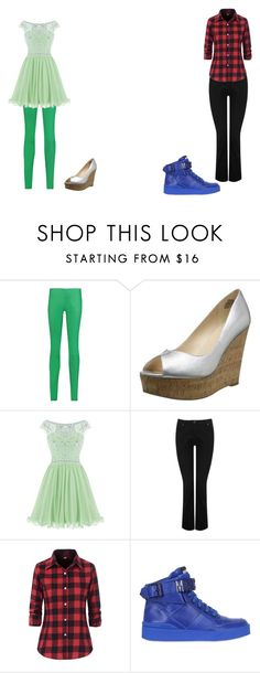 """""""Girly Girl vs. Tomboy: School play edition"""" by sierra-ivy on Polyvore featuring Drome, Nine West, M&Co and Moschino"""