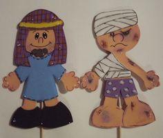 Jesus Cartoon, Good Samaritan, Paper Puppets, Bible For Kids, Bible Crafts, Kids Church, Finger Puppets, Foam Crafts, Bible Stories
