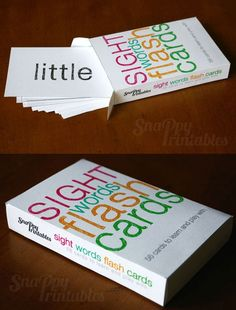Printable Elementary Sight Words Flash Card by SnappyPrintables