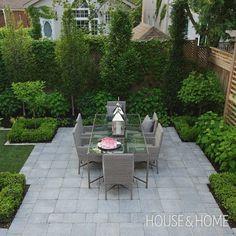 49 Popular Image for Summer Backyard Landscaping - Alles über den Garten Landscaping Trees, Small Backyard Landscaping, Backyard Patio, Backyard Ideas, Backyard Shade, Inexpensive Landscaping, Landscaping Edging, Sloped Backyard, Modern Backyard