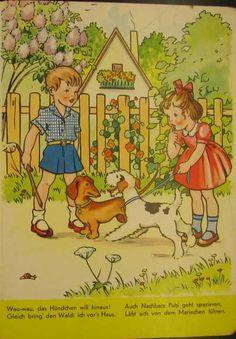 Gut Freund mit allen Tieren - Bilderbuch 50iger
