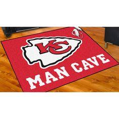 Sports Licensing Fanmats Kansas City Chiefs Nylon Man Cave Allstar Rug