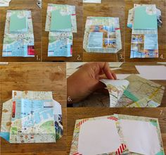 DIY Envelope tutorial - super easy - I did you see http://www.travelettes.net/diy-sunday-map-gift-cards-and-envelopes/