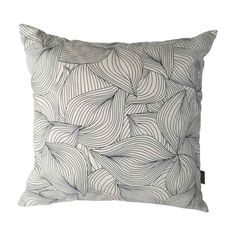 Cushion Cover Size: 50 x Colours available: Lilium Charcoal on White Lilium Indigo on White Double sided. Cushion inners not included. This product is handmade and will have a lead time of 2 - 3 weeks. Duck Egg Cushions, Black Cushions, Printed Cushions, Black Cushion Covers, Cover Size, Cotton Linen, Contemporary Design, Screen Printing, Indigo