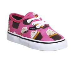Buy Hot Pink Cupcakes Vans Authentic Toddlers from OFFICE.co.uk.