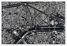 Damien Hirst's Aerial Cityscapes Formed with Needles, Pins and Scalpels - My Modern Met