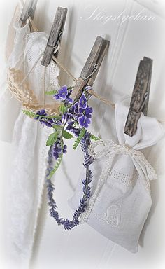 Pretty lavender bags