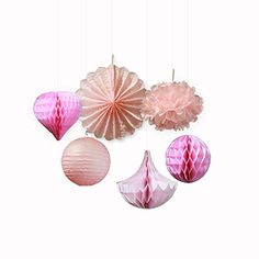 SUNBEAUTY Pink Series Pink Tissue Paper Pom Poms Paper Fa... http://www.amazon.com/dp/B01CJR8IF0/ref=cm_sw_r_pi_dp_hIsnxb1R040H6