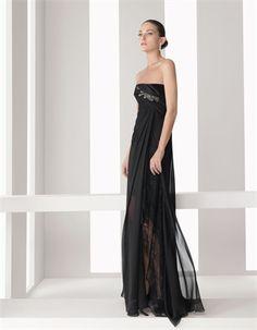 Black Column Cocktail Dresses MRSD001