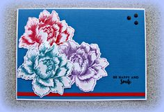 https://flic.kr/p/PbjEBP   Analgous Colours   NZ technique swap this month is to use analogous colours on our card... that's colours next to each other on the colour wheel.  I've done red purple blue.  with Red/Blue as my main colours.  Using Altenew Peony Bouquet stamps and a quote set.