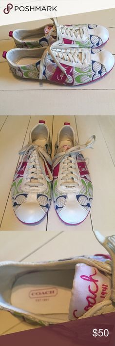 Coach Tennis Shoes Size 7.5 Sneakers Good condition Coach Shoes Sneakers