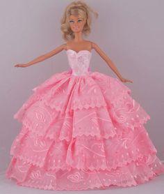 """Barato Nova moda artesanal rosa de casamento vestido roupas vestido para 11 """" boneca Barbie D1023, Compro Qualidade Acessórios para boneca diretamente de fornecedores da China:           Condição: novo e feito à mão            Este vestido se encaixa com: 11 """"boneca, boneca Barbie, bon"""