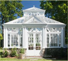 Tanglewood Conservatories created this elegant English greenhouse conservatory with classic elegance. This custom greenhouse in Vermont, New England is Backyard Greenhouse, Small Greenhouse, Greenhouse Plans, Pallet Greenhouse, Aquaponics Greenhouse, Portable Greenhouse, Greenhouse Wedding, Outdoor Rooms, Outdoor Living