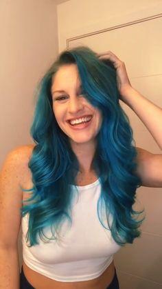 Things she did: THAT 👏 @kimberly.liberty used #afposeidon #afaquamarine 💙 #hairtransformation #haircolor #color #colormixing Dyed Hair Blue, Hair Color Blue, Hair Colors, Fantasy Hair Color, Semi Permanent Hair Dye, Arctic Fox Hair Color, Bright Hair, Go Blue, Dark Shades