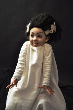 Bride of Frankenstein costume~Image via A Mighty Girl
