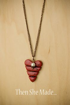 Then she made...: Valentine Necklace Tutorial