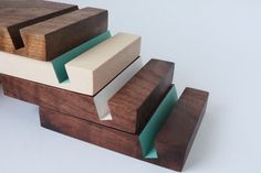 Turquoise colour block modern iPad stand by craftcollective