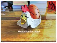Manualidades, Gallina porta huevos con huevera.