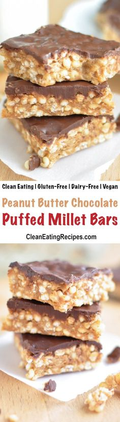 These no-bake puffed millet bars are a perfect after-school snack, that you can feel good about serving to your kids (and sneaking one for yourself). {5 Ingredient, Clean Eating, Gluten-Free, Vegan, Dairy-Free}