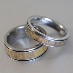his and hers wooden rings