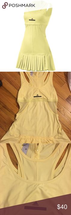 Adidas Tennis dress by Stella McCartney Cute sunshine-yellow tennis dress that is barely worn. No stains or holes as seen in the pictures. Nice outfit to wear on and off the court! Adidas by Stella McCartney Dresses Mini