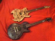 A Z-Max Guitars Warrior and Dream Wraith. Vicious pair!