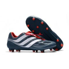Oneline Get Buy 2017 Adidas Predator Precision FG Football Boots Blue White Red Cool Football Boots, Soccer Boots, Football Shoes, Adidas Football, Adidas Soccer Shoes, Adidas Predator, Cheap Soccer Cleats, Black White, Blue Grey