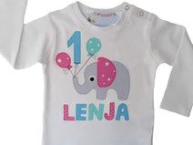 Geburtstagsshirt Elefant 1.2.3... (inkl.Name)