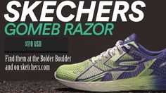 The next generation of Skechers Performance racing shoe is better than ever. High performance racing flat designed to be sleek, snug and fast. Virtually seamless GO KNIT upper with 5GEN® cushioning.  Train like Meb in the Skechers GOmeb Razor™. Both responsive and fast this shoe will be your everyday trainer.