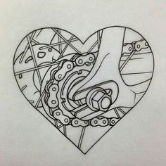 New Fixie Bike Tattoo Bicycle Art Ideas Cycling Tattoo, Bicycle Tattoo, Bicycle Art, Cycling Art, Bicycle Design, Gear Tattoo, Bike Tattoos, Cool Tattoos, Tattoo Art