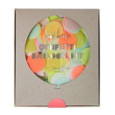 Meri Meri Confetti Balloon Kit - Neon -  Party Supplies - Meri Meri UK - Putti Fine Furnishings Toronto Canada - 1