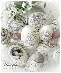 Vintage advertising label eggs - Ostern - Home Sweet Home Happy Easter, Easter Bunny, Easter Eggs, Egg Crafts, Easter Crafts, Easter Decor, Decoupage, Easter Egg Designs, Diy Ostern