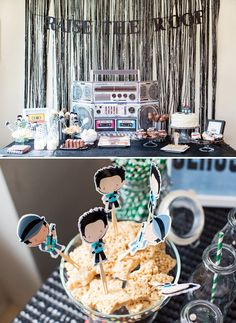 hip hop dance birthday party dessert table