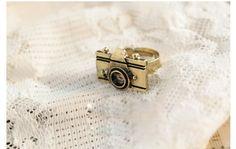 Retro Style and Fashion 5PCS Camera Shape Embellished Rings (COLOR ASSORTED) China Wholesale - Sammydress.com