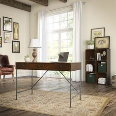 Shop for kathy ireland Office Ironworks Writing Desk and 6 Cube Bookcase. Get free shipping at Overstock.com - Your Online Furniture Outlet Store! Get 5% in rewards with Club O!