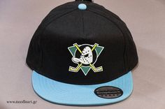 Snap back hat,Anaheim Ducks logo,Mighty Ducks,Caps,Snap back cap,embroidery,machine embroidered on snap back hat, Customizable thread color by NeedleArtGR on Etsy
