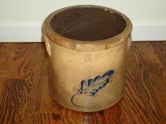 1 1/2 Gallon Stoneware Crock Cobalt Stoneware by TheCrockery1