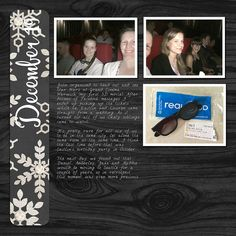 I'm continuing on my simple December Down Under pages for this month. Take a look at a page about seeing Star Wars. #digiscrap #scrapbooking #December Daily