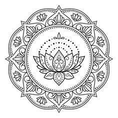Mandala Floral, Lotus Mandala, Mandala Art, Lotus Artwork, Art Lotus, Circular Pattern, Mandala Pattern, Mandala Design, Mandala Doodle