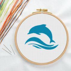 Dolphin Stitch Pattern Instant Download Cross by NeedleworkCanvas, $2.25