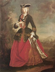 Portrait of Elisabeth Christine of Braunschweig-Wolfenbuettel (1691-1750), spouse of Holy Roman Emperor Charles VI