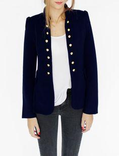 chaqueta militar con botones #chaquetanapoleón #napoleon #chaqueta #model  by www.livinginshop,es #happy #lifestyle